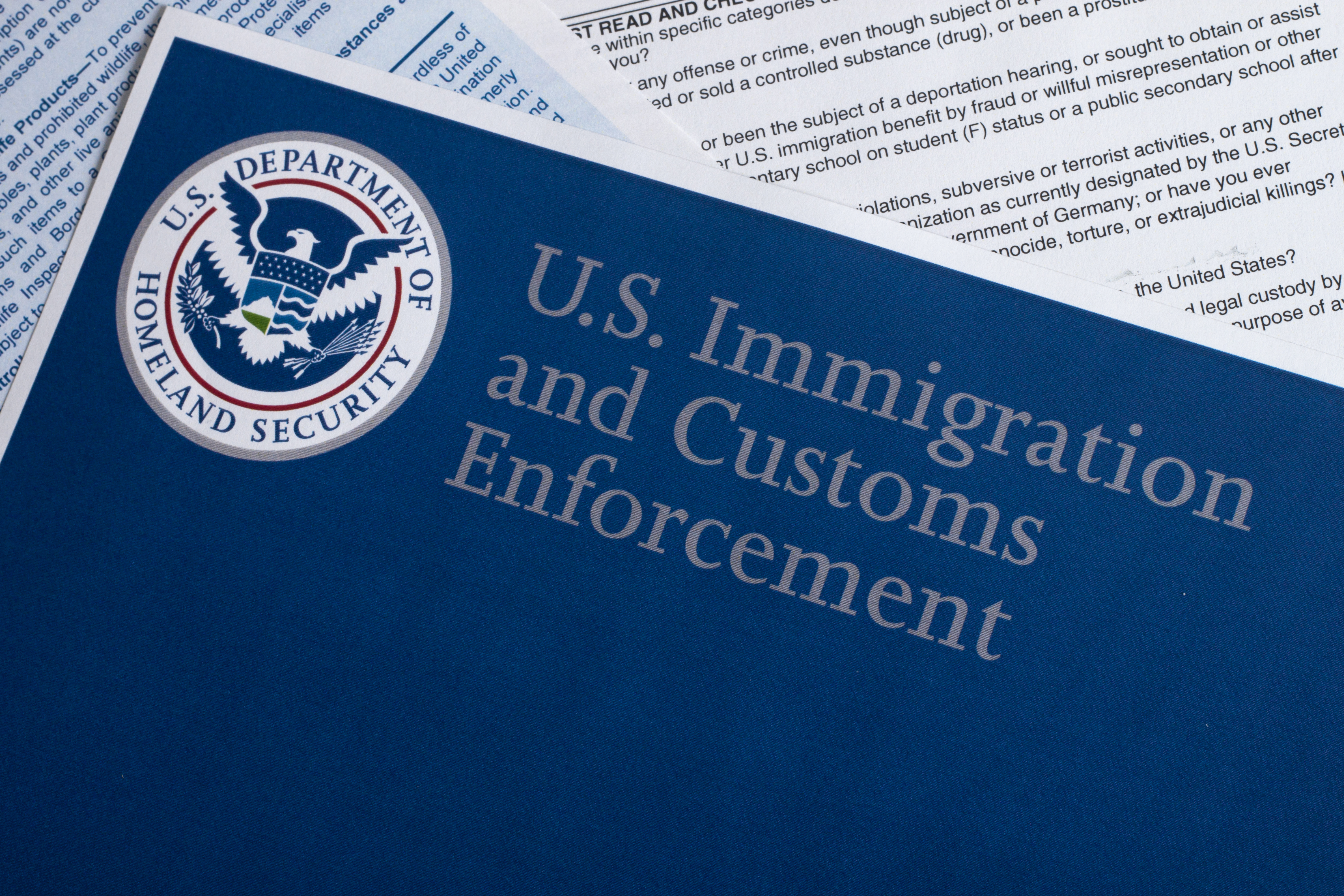 U.S. Immigration and Customs Enforcement Folder