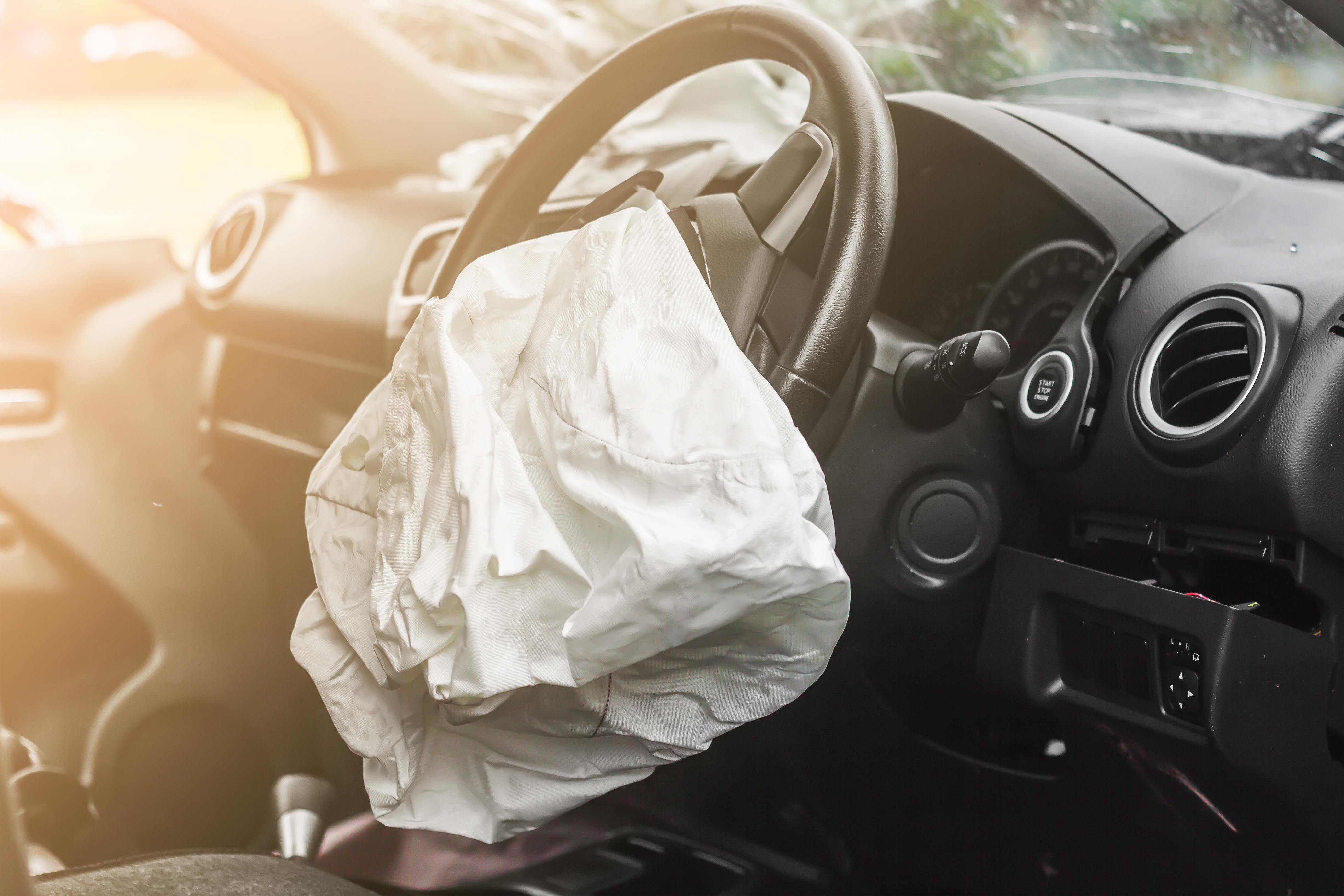 car accident airbags deployed