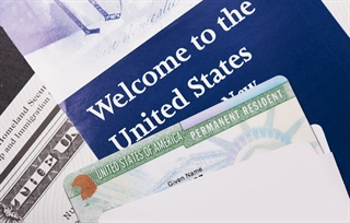 Green card and immigration documents