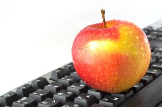 Keyboard and apple
