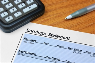 paycheck earning statement